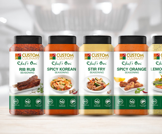 custom culinary seasonings